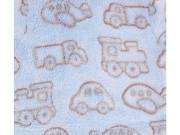 Dětská deka chlupatá autíčka
