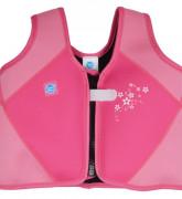 Dětská plavací vesta růžová s květy