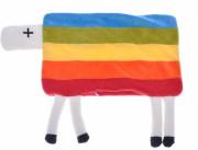 Polštář plyšový ovečka s nožičkami 35x22