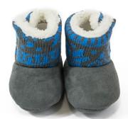 Kojenecké capáčky zimní Pidilidi modrá