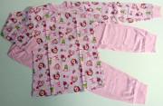 Bavlněné pyžamo růžové LITTLE PRINCESS Vel. 110