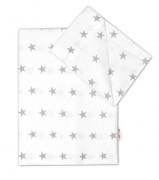 Bavlněné povlečení Baby Nellys 135 x 100 cm Hvězdičky v bílém