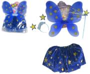 Kostým princezny modrý s hvězdami