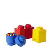 LEGO úložné boxy Multi-Pack 3 ks - Modrá, žlutá, červená