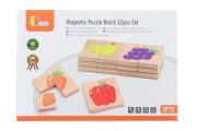 Dřevěné magnetické puzzle - ovoce Viga