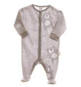 Kojenecký overal dlouhý rukáv/nohavice s medvídky šedá/šedá MKCool