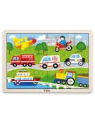 Dřevěné puzzle 24 dílků - doprava Viga