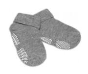 Kojenecké ponožky protiskluzové - Šedé Risocks