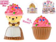 Cupcake mini medvídek 6cm vonící v blistru 12druhů