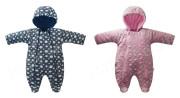 Kombinéza s kapucí na zip podšitá wellsoft Bubliny Baby Service