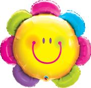 Fóliový balónek KVĚTINA s úsměvem 81cm