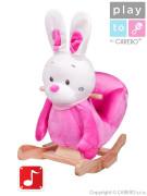 Houpací hračka s melodií PlayTo králíček růžová