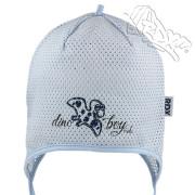 Dívčí kojenecká zavazovací čepice Dino Boy RDX