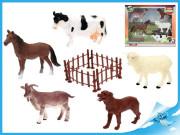 Zvířátka farma 5ks s plotem