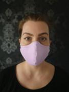 Látková respirační rouška - maska dvouvrstvá s kapsou lila