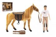 Kůň fliška česací + panáček kloubový 30 cm