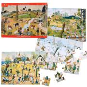 Puzzle Josef Lada, čtyři roční období 24 dílků