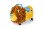 Odrážedlo Funny Wheels Rider Ride-On lvíček 50 cm plyšový modrý