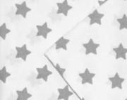 Ochranný límec 100% bavlna okolo celé postýlky 360x27 cm Hvězdy šedé na bílé