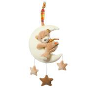 Hrací hračka Rainbow - Měsíc s medvídkem Baby Fehn