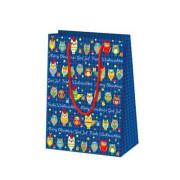 Vánoční dárková taška 16 x 22 cm Sovičky