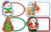 Vánoční etikety 4 ks