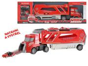 Přepravník aut hasiči 41 cm + 3 auta 6 cm