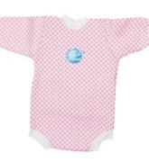 Baby neoprén - body - růžová kostka