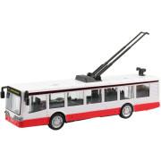 Kovový trolejbus na zpětný chod 16 cm