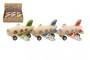 Dřevěné letadlo 10x9 cm na zpětné natažení 18m +