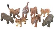 Zvířátka v tubě - safari 8 ks, mobilní aplikace pro zobrazení zvířátek