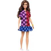 Barbie Modelka 137 - kostkované šaty