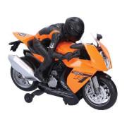 Motorka závodní 28cm narážecí na baterie se světlem a zvukem