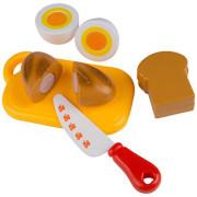 Krájení na blistru - vejce, toast, bageta