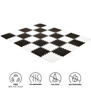 Podložka pěnové puzzle Luno 150x180 cm Black 30 ks