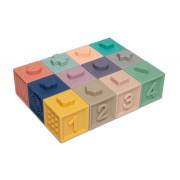 Měkké senzorické hrací kostky 12 ks