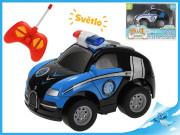 R/C auto policie 11 cm 27MHz plná funkce na baterie se světlem