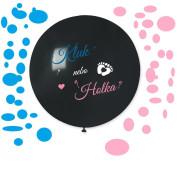 Balónek 80 cm s potiskem je to kluk nebo holka? + konfety babyshower
