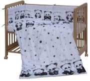 Dětské povlečení 6dílné Scarlett Panda - 100 x 135 cm