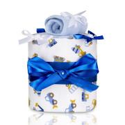 Plenkový dort malý T-tomi,modrý - bagr