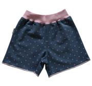 Dívčí šortky Jeans bez lemu MKCool Srdíčka