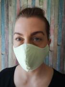 Látková respirační rouška - maska dvouvrstvá s kapsou a drátkem zelená