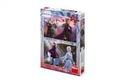 Puzzle 2v1 Ledové království II/Frozen II 2x77 dílků v krabici