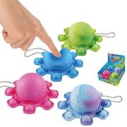 Přívěšek Bubble pops - Praskající bubliny chobotnice silikon