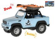 Auto terénní 21 cm surfing na setrvačník na baterie se světlem a zvukem