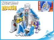 EDUKIE stavebnice Angry Birds stanice 195 ks + 2 figurky v