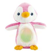 Lampička tučňák 22cm plyšový stojící měnící barvu růžová