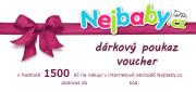 Dárkový poukaz na nákup v našem eshopu Nejbaby.cz v hodnotě 1500 Kč