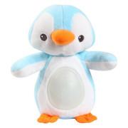 Lampička tučňák 22cm plyšový stojící měnící barvu modrá