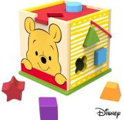 Disney Dřevěná kostka s tvary Medvídek Pú